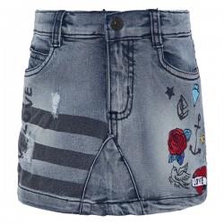 Tattoo - Jupe en jeans avec...
