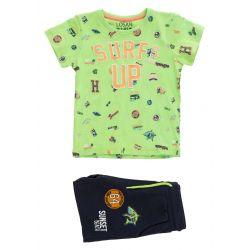 Prévente - Surf's Up - Ens. t-shirt vert et bermuda