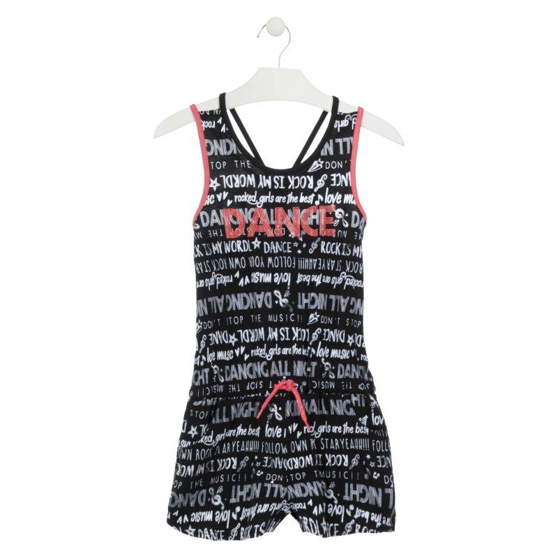 Prévente - Dance - Combi-shirt noir imprimé