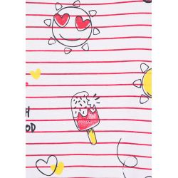 Prévente - Happy Syn - Robe rayée rose fraise