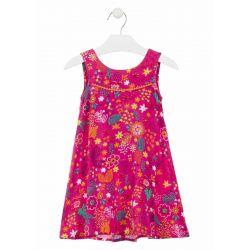 Prévente - Hippie Flowers - Robe en voile fuschia imprimée