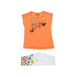 Prévente - Tropical Colors - Ens. tunique orange et legging imprimé