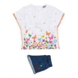 Prévente - Tropical Colors - Ens. t-shirt et short en denim