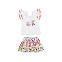 Prévente - Tropical Colors - Ens. t-shirt et jupe