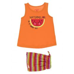 Prévente - Ens. camisole orange et short