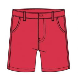 Prévente - GoOn - Bermuda en twill rouge