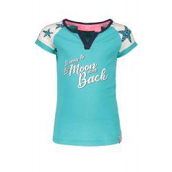 Prévente - B.Nosy - t-shirt turquoise avec étoiles sur les épaules