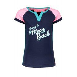 Prévente - B.Nosy - T-shirt marine avec étoiles sur les épaules