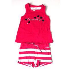 Nice Day - Ens. camisole et short rouge