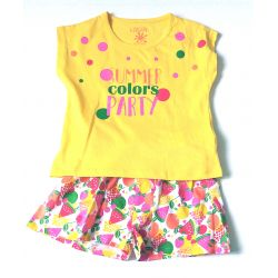 Ens. t-shirt jaune et short