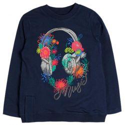 Prévente - Girl Rules - T-shirt marine imprimé écouteurs