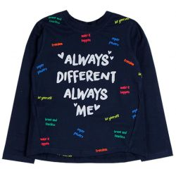 Prévente - Girl Rules - T-shirt marine avec texte