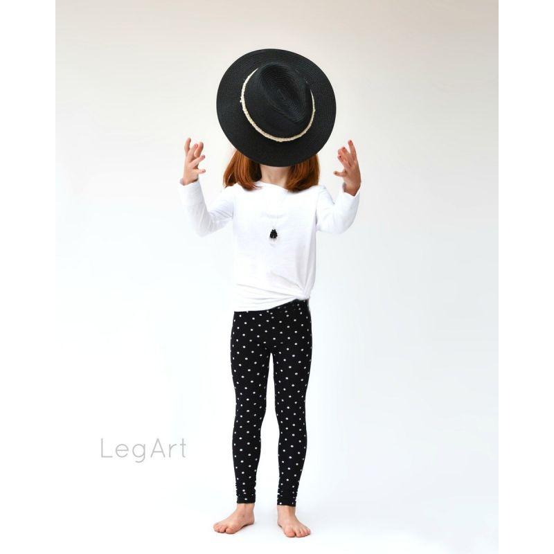 Legging noir à pois