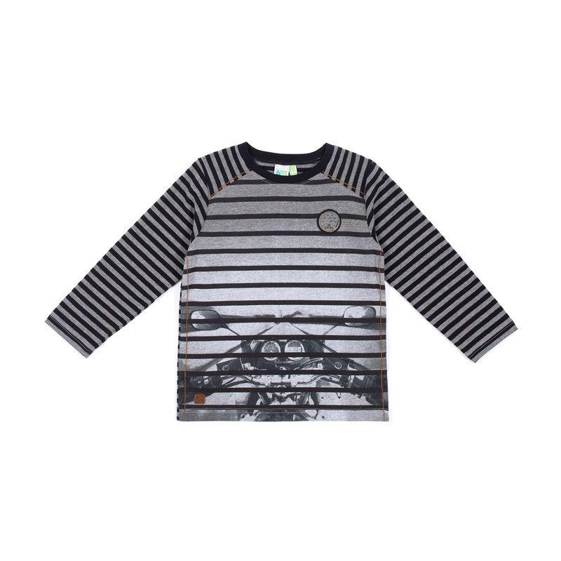 Prévente - T-shirt rayé gris