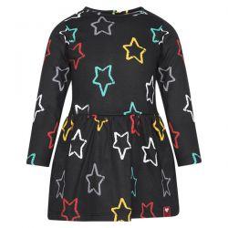 Prévente - Chalk Painting - Robe en molleton imprimé étoiles