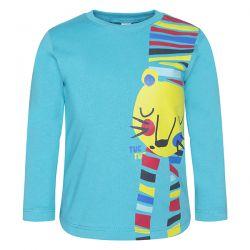 Prévente - crazy Tiger - T-shirt turquoise