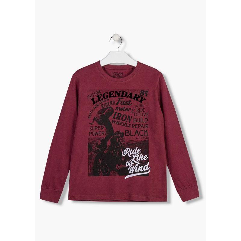 Prévente - Motor - T-shirt aubergine