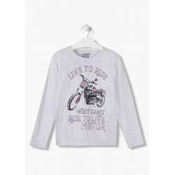 prévente - Motor - T-shirt blanc glace