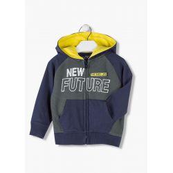 Prévente - New Future - Cardigan à capuchon marine