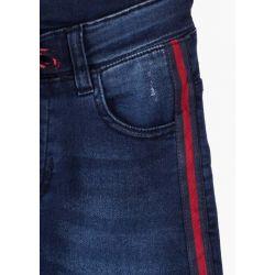 Prévente - College - Jeans avec bande latérale rouge