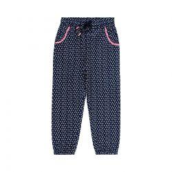 Prévente - 60'Remember - Pantalon en viscose marine imprimé