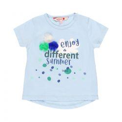 Prévente - Blue and Green - T-shirt bleu brume