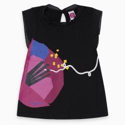 Prévente - Pink Cat - T-shirt noir