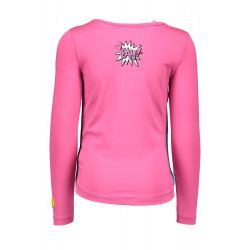 B.Nosy - T-shirt magenta neon Super Girls