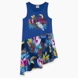 Prévente -  Samba - Robe bleue avec jupe asymétrique
