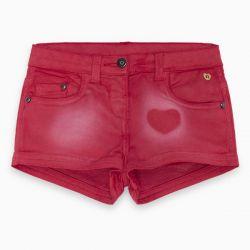 Prévente - Basic - Short en denim rouge