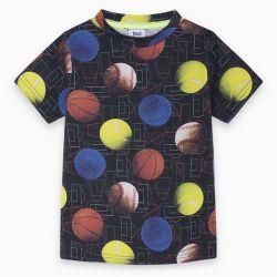 Prévente - Japan Training - T-shirt noir imprimé balles et ballons