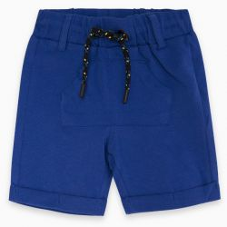 Prévente - Basic - Bermuda en jersey bleu