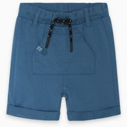 Prévente - Basic - Bermuda en jersey sarcelle