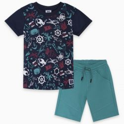 Prévente - Lost Island - T-shirt marine
