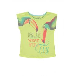 Prévente - Crazy Birds - T-shirt lime