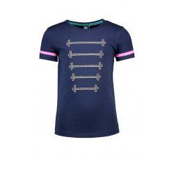 Prévente - Military - T-shirt space blue avec cordons argent