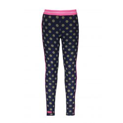 Prévente - Military - Legging space blue à pois mermaid et liséré pink glo
