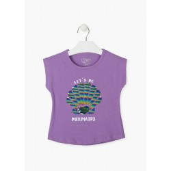 T-shirt lilas avec...