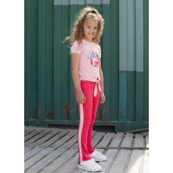 Prévente - Nice - T-shirt rose pâle avec paillettes réversibles