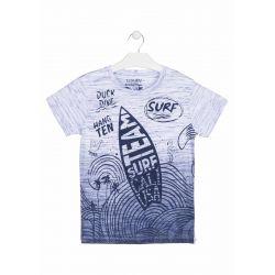 Prévente - Big Wave - T-shirt bleu dégradé