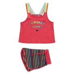 Prévente - Retro Summer - Ens. camisole corail et short