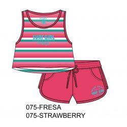 Prévente - Ens. camisole et short fraise