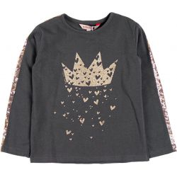 Prévente -Gold Crown - T-shirt gris storm