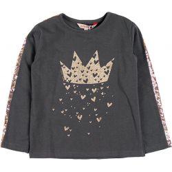 Prévente -Gold Crown - T-shirt gris storm