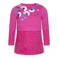 Prévente - Dream Pink - Robe en molleton fuschia avec fleur
