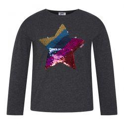 Prévente - Rainbows - T-shirt noir avec paillettes réversibles