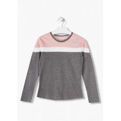 Prévente - Pink Winter - T-shirt gris et vieux rose