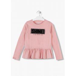Prévente - Pink Winter - T-shirt vieux rose avec lurex