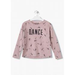 Prévente - Dance - T-shirt mauve apparence tricot
