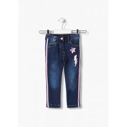 Prévente - Pink Winter - Pantalon en denim avec bande latérale et paillettes